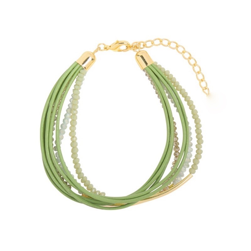 Groovy Sparkle Beads | Bracelet | Green