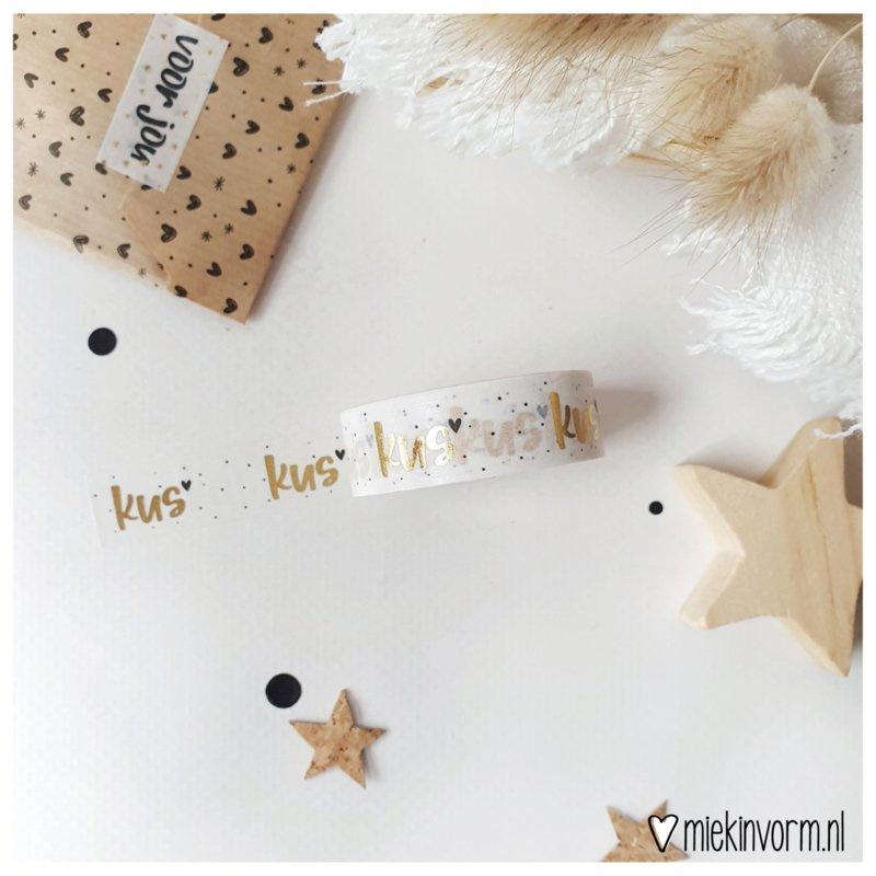 Kus | Washi/Masking Tape  (Gold foil)