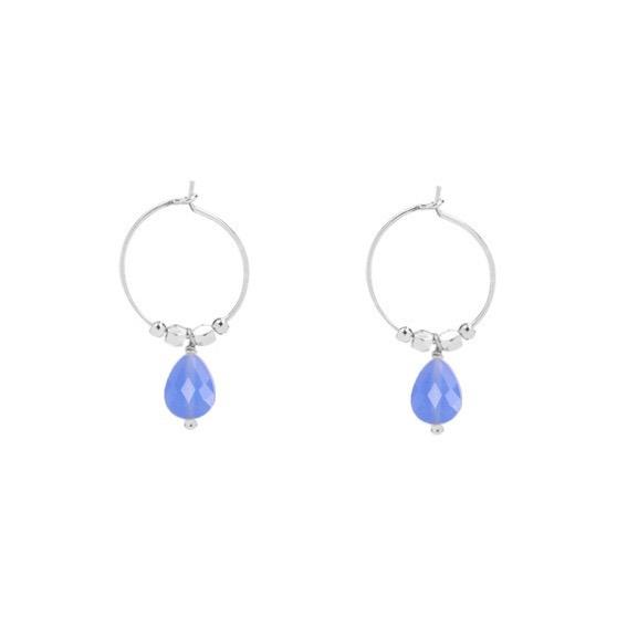 Fancy   Oorbellen   Silver-Blue