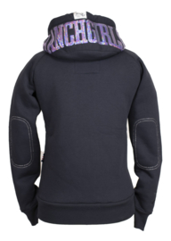 "Ranchgirls Hooded Jacket ""Shiny"" Carbon/Lilac"