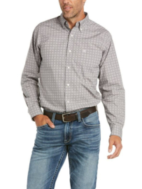 Ariat Fitted Shirt Grey Geo Print