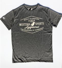 """OSWSA t-shirt """"Jacob"""" Anthra Melange"""