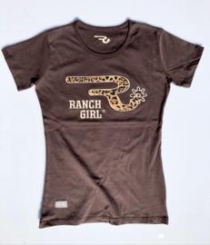 """Ranchgirls t-shirt """"Leo"""" Chocolate"""