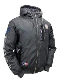 """OSWSA Men's Hooded Winter Jacket """"Owen"""" Dark Grey Melange"""