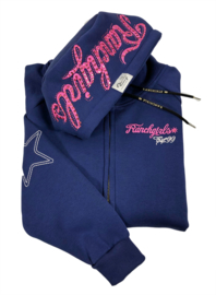 Ranchgirls Hooded Jacket Shiloh Blueprint/Rosa