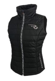 "Ranchgirls Vest ""Cira"" Black/leopard"