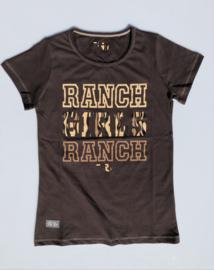 "Ranchgirls t-shirt ""Ranch"" Chocolate"