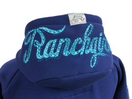 Ranchgirls Hooded Jacket Shiloh Blueprint/Aqua