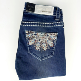 Grace in LA Feather Embellished SKINNY