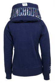 "Ranchgirls Hooded Jacket ""Shiny"" Patriot blue/silver"
