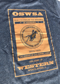 "OSWSA t-shirt ""Bob"" Blue Melange"
