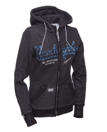 Ranchgirls Sweat Jacket Zwart/Blauw