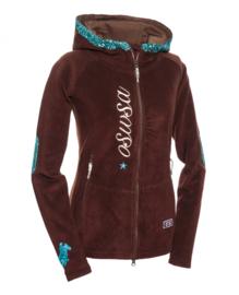 OSWSA Hooded  Polarfleece Bruin/Turquoise