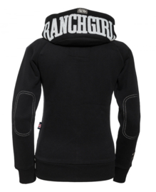 Ranchgirls Sweat Jacket Zwart/Wit