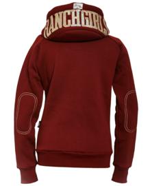 "Ranchgirls Sweat Jacket ""Shiny"" Bordeaux/Champaign"