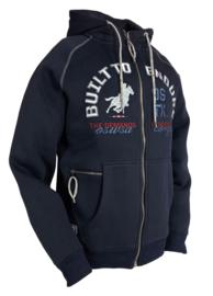 """OSWSA Men's Hooded Sweat Jacket """"Shawn"""" Navy"""