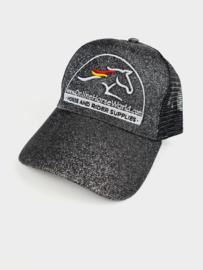 OnlineHorseWorld Ponytail Cap Black Glitter
