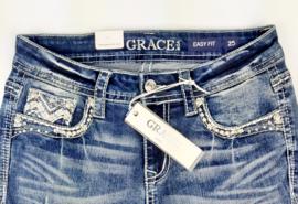 Grace in LA White Stitch SKINNY (Easy Fit)