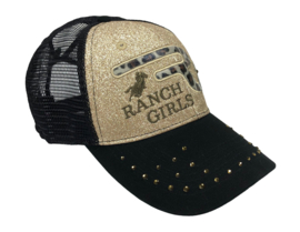 RANCHGIRLS Black & Gold Glitter (PONYTAIL-Cap)