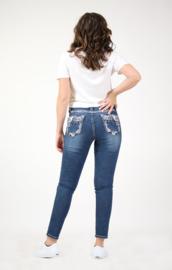 Grace in LA Whimsical Embellished Flap Pocket SKINNY (Easy Fit)