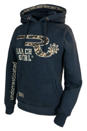 "Ranchgirls Hooded Sweat ""Ava"" Leopard Design anthrazid"