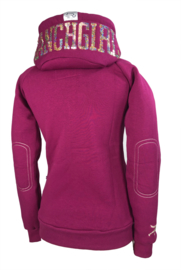 "Ranchgirls Hooded Jacket ""SHINY"" fuchsia 