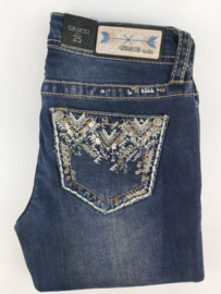 Grace in LA Motif Embroidered SKINNY