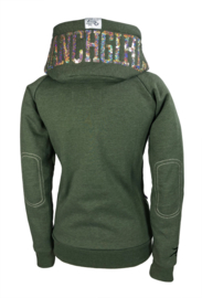 "Ranchgirls Hooded Jacket ""SHINY"" ivy green melange 