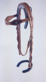 Headstall Cowhide with stars