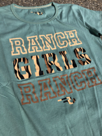 "Ranchgirls t-shirt ""Ranch"" Lindgrün"