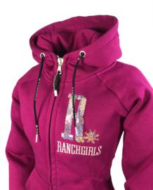 """Ranchgirls Hooded Jacket """"SHINY"""" fuchsia   champ"""