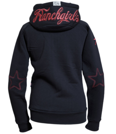 "Ranchgirls Hooded Jacket ""Shiloh"" carbongrey/salmon"
