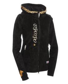 OSWSA Hooded  Polarfleece Zwart/Goud