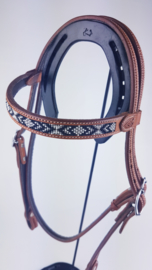 Headstall Black Beads