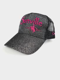 Sunville Ponytail Cap HOTPink/Black Glitter