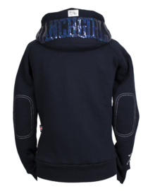 "Ranchgirls Hooded Jacket ""Shiny"" Navy/Stone Blue"