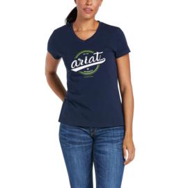 Ariat Authentic Logo T-Shirt Navy