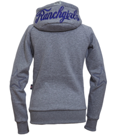 "Ranchgirls Hooded Jacket ""Shiloh"" Grey/Royal Blue"