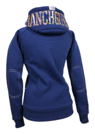 "Ranchgirls Hooded Jacket ""Shiny"" Blue print/champagne"