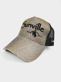 Sunville Ponytail Cap Black/Gold Glitter