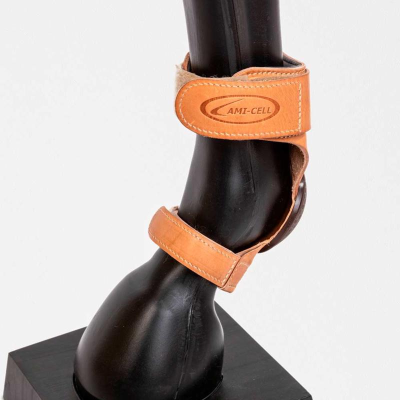 Lami-cell Lederen Skid Boots Velcro
