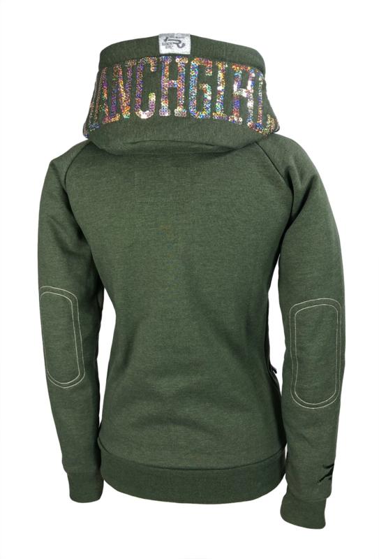 "Ranchgirls Hooded Jacket ""SHINY"" ivy green melange | champ"