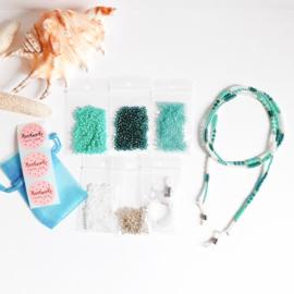 DIY-pakket brillenkoordje maken ''ocean colors''