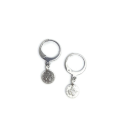 Ringoorbellen ''tiny coin'' zilver