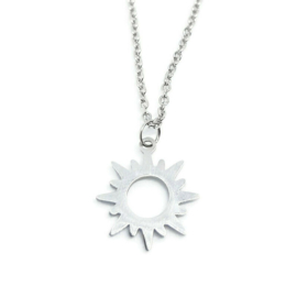 Bedelketting ''sunshine'' stainless steel, silver