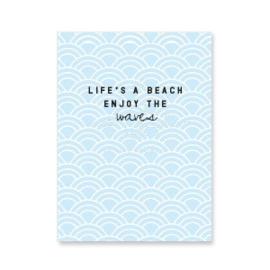 Mini kaart ''life's a beach''
