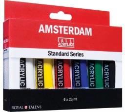 Acrylverf amsterdam, 6 standaard kleuren