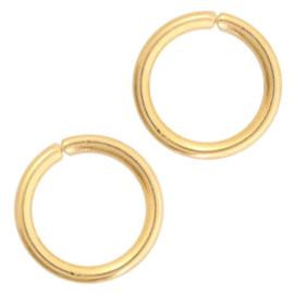 Oogjes 4mm, rvs goud 10 stuks