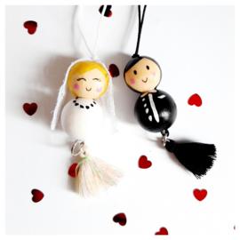 Gelukspoppetjes ''bruidspaar''
