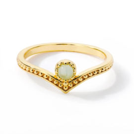 Ring bohemian stainless steel ''tiny stone'' gold